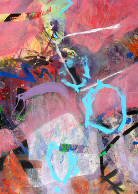 m.m.m chaos concealed, Acryl-Pigmente auf Lwd. ,140 x 100, 2010