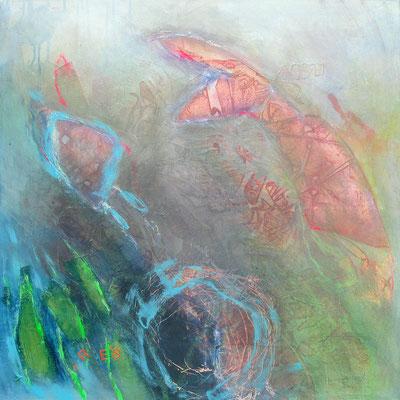 Krebs, Acryl-Pigmente-Mischtechnik auf Lwd, 80 x 80,2010 (2)