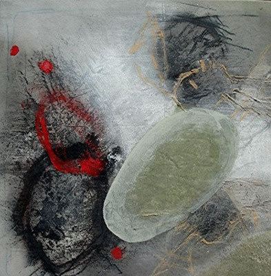 very srtrange, Acryl, Pigmente  auf Lwd. 62 x 62, 2008,