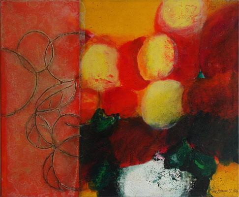 Apfelstrauß, Acryl-Lwd. 2002