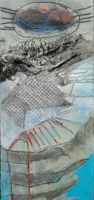 schwarze Mikrobe,Acrylmischtechnik auf Lwd.  85 x 40,2007