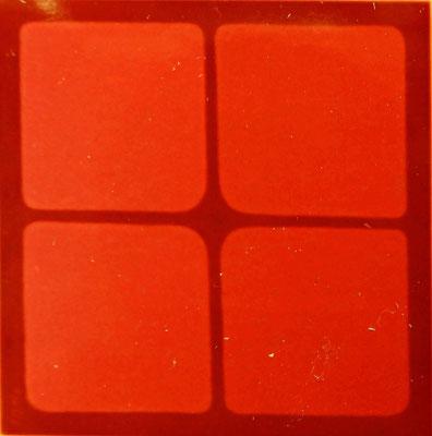 rotes Fenster,Öl auf Lwd .80 x 80, 1978