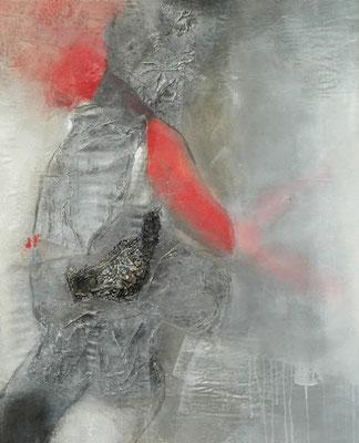 Krieger mit Absichten,Pigmente u.Material lauf Lwd, 125 x 102,2007