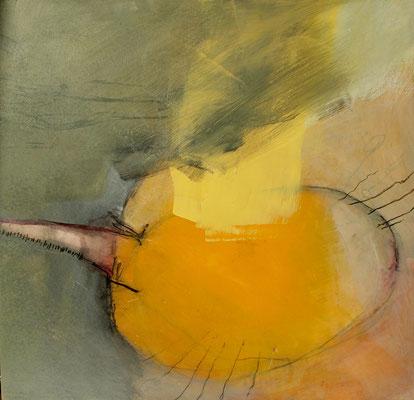 Losgelöst 2, Pigmente auf Holz, 52 x 53,2008