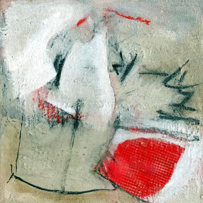 rot-weiß,Acryl auf Lwd., 40 x 40, 2013