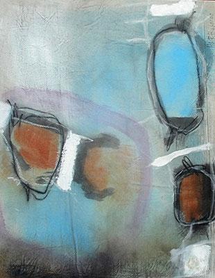 Don Quichotte und Sancho Pansa, Acryl,Pigmente auf Lwd., 95 x 74,2008
