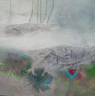 Grüner Veltliner-3,Acryl-Pigmente-Mischtechnik auf Lwd.,60 x 60,übermalt 2011