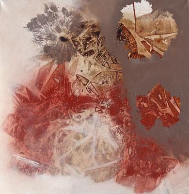 Rotwein,Mischtechnik auf Lwd. 60 x 60, 2015
