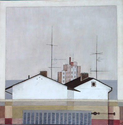 Hanau,Öl auf Lwd. 80 x 80, 1978
