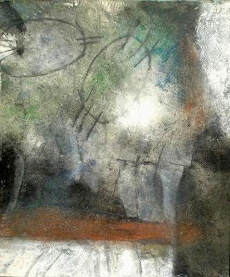 o.T. Pigmente auf Lwd., 125 x 105 ,2007