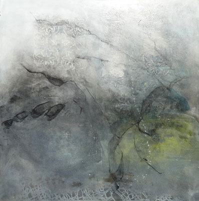 weit weg von der Erde, Acryl auf Lwd, 100 x 100 , 2018