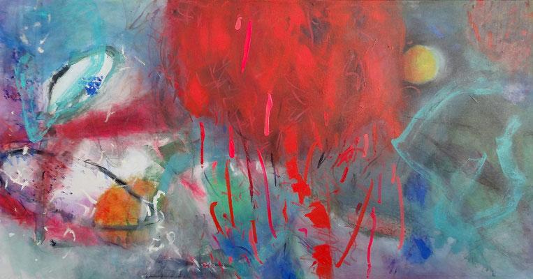 Farbteufel,Acryl-Lwd. 76 x 145, überarbeitet 2017