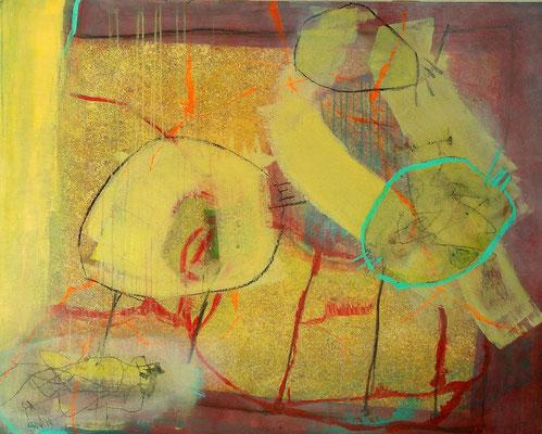 Mutation, Acryl-Mischtechnik  auf Papier, auf Sperrholz gez.,100x120,übermalt 2009 - Kopie