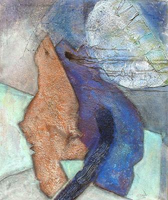 Einträchtig, Acryl-Mischtechnik auf Lwd.,104 x 80,2006