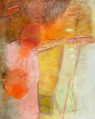 Das Handtäschchen, Pigmente,Material auf Lwd,  100 x 80, 2008