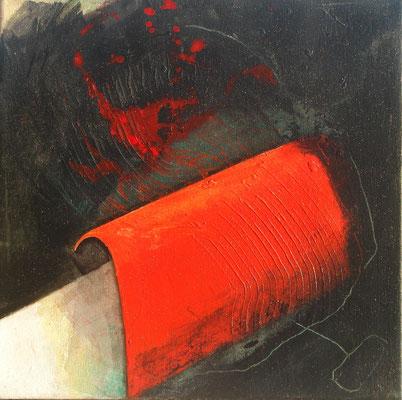 rot 1, Acryl-Mischt., Lwd, 30 x 30, übermalt 2012