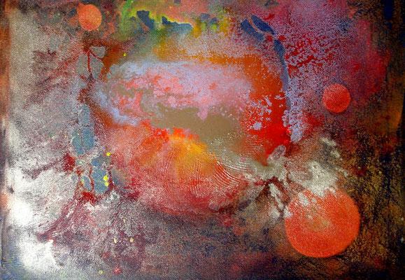 Schwangerschaft.Acryl auf Lwd., 80 x 100, 2007