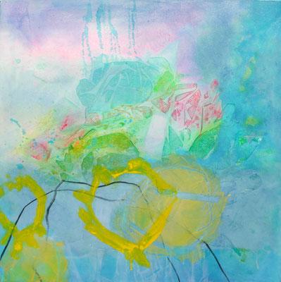 verträumt, Acryl-Pigmente-Mischtechnik auf Lwd, 80 x 80,2010