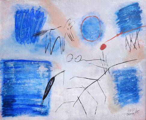 Aka am Neusiedler See, Acryl auf Papier auf Holz gezogen,103 x 123, 2005