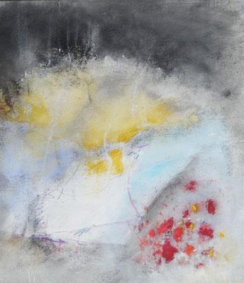 Stimmungswechsel, Acryl,Pigmente auf Pappe,96 x 85 2014 - Kopie