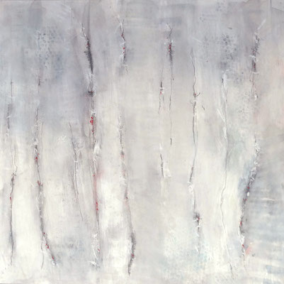 Zwischenraum 5,  Acrylmischtechnik ,Lwd. 80 x 80 ,2016