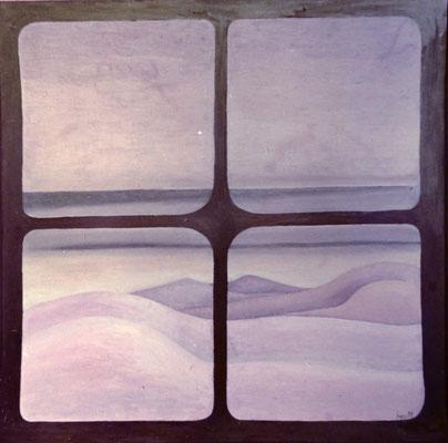 Lancarote,Öl auf Lwd.  ,80 x 80 ,1978