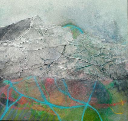 Grüner Veltliner-1,Acryl-Pigmente-Mischtechnik auf Lwd.,60 x 60,übermalt 2011