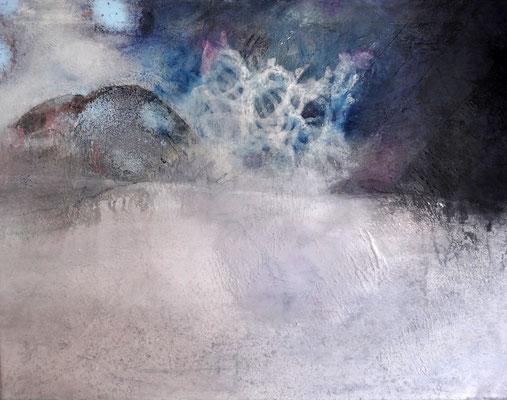 bei Nacht und Nebel, Acryl auf Lwd.,63 x 49 , übermalt 2014