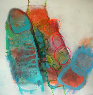 Zwilling, Acryl,Pigmente  auf Lwd.,80 x 80, 2009 (3)