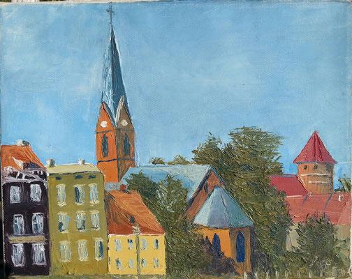 Allenstein,  Öl auf Leinwand , 15 x 25 ,1978