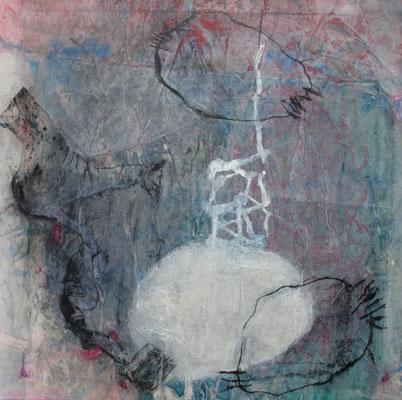 Somnambul,Acryl, Pigment auf Papier Lwd.,80 x 80, 2008