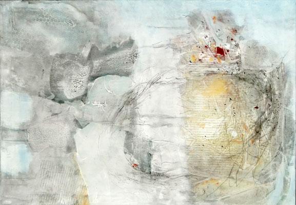 Einzeller, Mischt. auf Lwd.70 x 100 , 2017