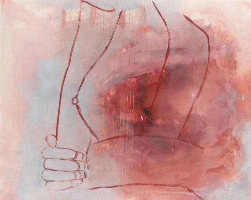 Brust 3 ,Acryl auf Lwd. 80 x 100,2014
