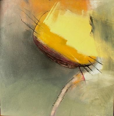 Losgelöst 1, Pigmente auf Holz, 52 x 53,2008