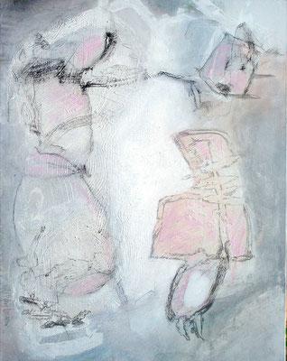 zweisam,Acryl-Mischtechnikauf Lwd., 70 x 90 ,2011 - Kopie