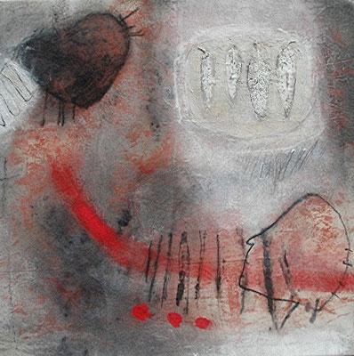 telepahtisch,Acryl, Pigmente auf Lwd. ,62 x 62 , 2008