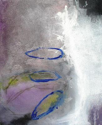 überwintern,Pigmente auf Lwd, 100 x 80, 2007