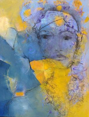 Lili blue, Acryl auf Lwd. 90 x 70 , 2017