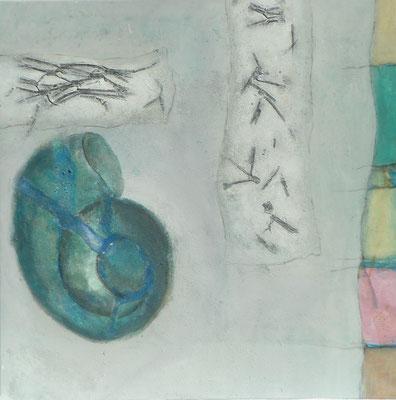 Schneckenhaus,Acryl-Mischt.auf Lwd. 85 x 85,2006