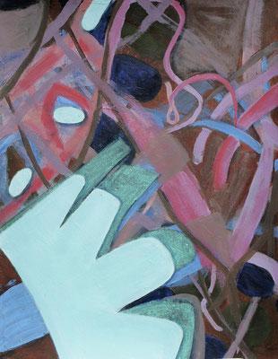 Monster-blau,  Acryl auf  Papier,64 x 50,2003