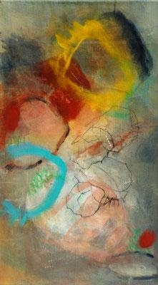 Kürbisernte-2,Acryl-Pigmente-Mischtechnik auf Lwd., 40 x 70 , 2009