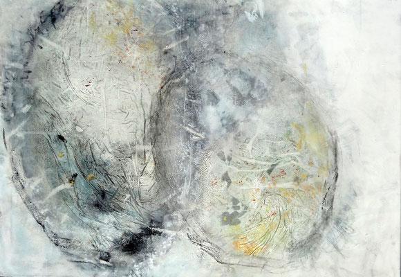 Zweizeller , Mischt. auf Lwd,70 x 100.,2017