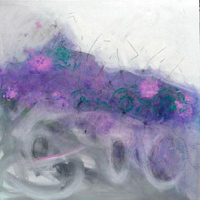 unter dem Schutt, Acryl auf Lwd, 100 x 100 , 2018