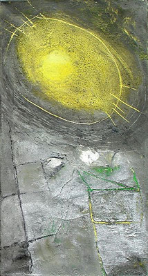 gelbe Mirkrobe, Acrylmischtechnik auf Lwd. 85 x 45,2007