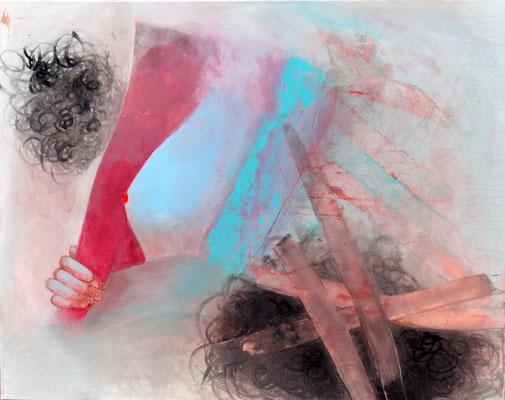 Brust 1 ,Acryl auf Lwd. 80 x 100,2014