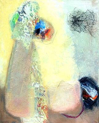 was kommt danach Pigmente, Materiel auf leinwand, 100 x 80, 2008