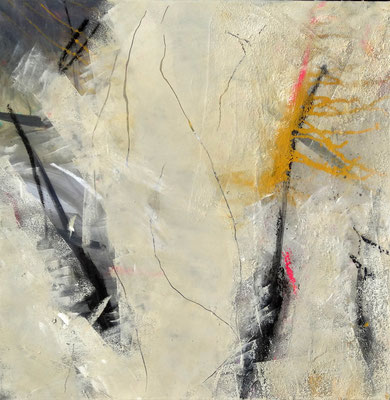 Gletscherspalten-2 ,Mischtechnik aud Lwd, 55 x 55, 2016