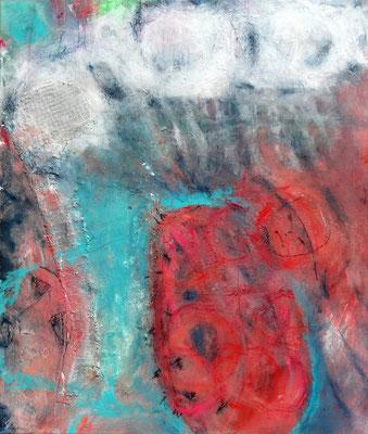out of the blue, Acryl-Mischtechnik auf Lwd., 100 x 85,2014