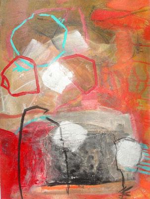 heftiger Dialog 2 Diptychon,Acryl-Pigmente-Mischtechnikauf wed.,80 x 60, 2009