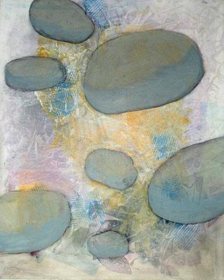 kartoffelige Bakteroide 2,Pigmente auf Lwd.,80 x 100, 2008